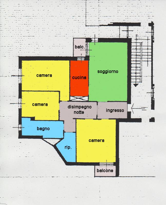 Planimetria 1 immobiliare fossati for Planimetria appartamento