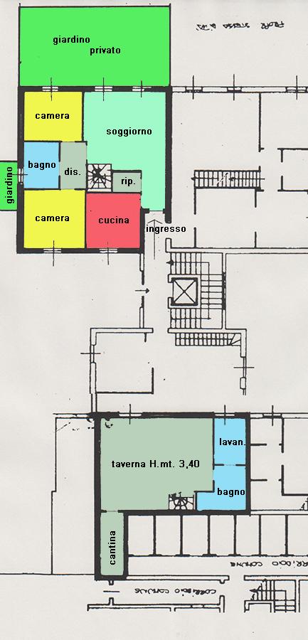 Planimetria2 immobiliare fossati for Planimetria giardino