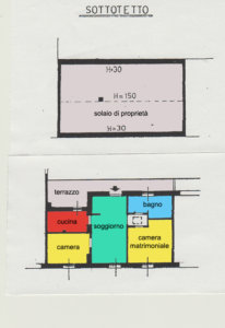 casa indipendente trilocale macherio planimetria