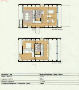 Villa prefabbricata modulare personalizzabile planimetria