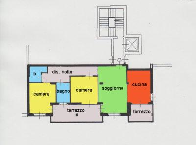 trilocale terrazzi centro lissone planimetria