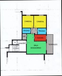 appartamento trilocale terrazzo lissone planimetria