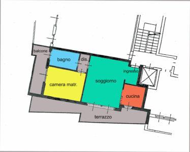 bilocale grandi terrazzi centro lissone planimetria