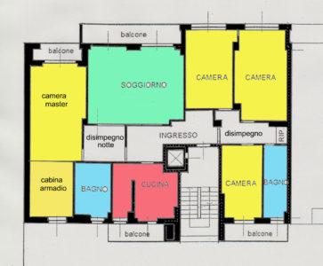signorile appartamento centro lissone planimetria