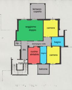 grande trilocale centro terrazzo lissone planimetria