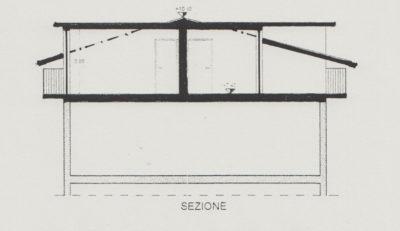 mansarda trilocale raffinata macherio sezione