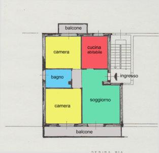 trilocale ristrutturato centro lissone planimetria