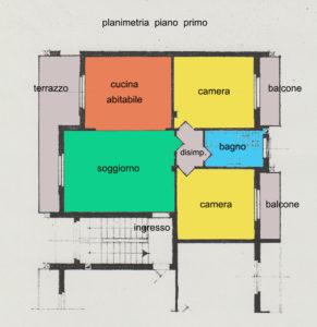 trilocale ristrutturato giardino lissone planimetria