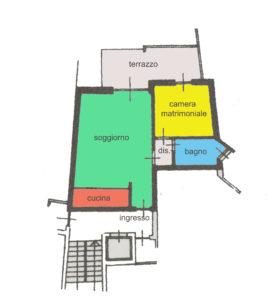 trilocale terrazzo centro lissone planimetria