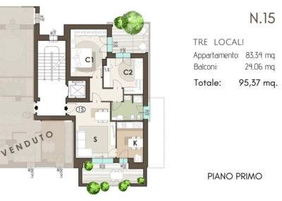 residenza Piermarini lissone classe A planimetria2