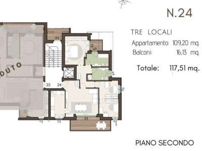 residenza Piermarini lissone classe A planimetria3