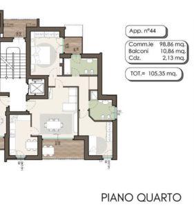 residenza Piermarini lissone classe A planimetria6
