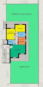 appartamento trilocale giardino lissone planimetria