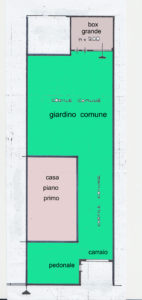 Appartamento in villetta Lissone planimetria piano terra