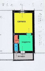 appartamento bilocale economico monza planimetria