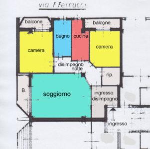 ampio trilocale balconi lissone planimetria