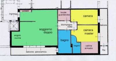 attico panoramico balconi lissone planimetria