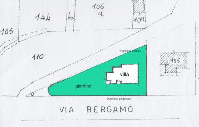 villa singola giardino bellusco planimetria giardino