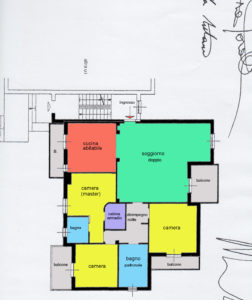 quadrilocale giardino porticato macherio planimetria appartamento