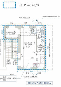 monolocale taverna centro lissone planimetria 3