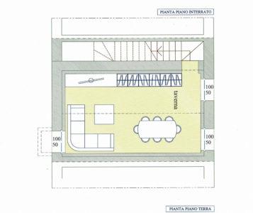 monolocale taverna centro lissone planimetria 1
