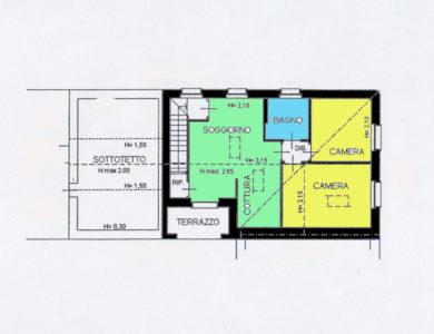 mansarda ristrutturata centro Lissone planimetria