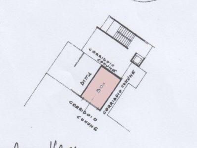 trilocale signorile terrazzo lissone planimetria box