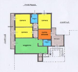 appartamento quadrilocale terrazzi desio planimetria