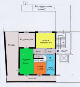 attico superattico terrazzi lissone planimetria 1