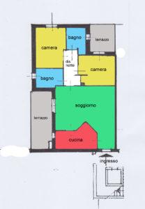 appartamento trilocale terrazzi lissone planimetria