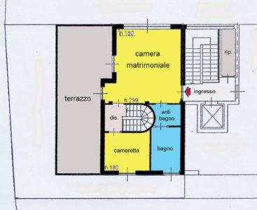 attico superattico terrazzi lissone planimetria 2