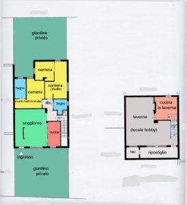 appartamento giardino taverna lissone planimetria